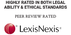 highly rated in both legal ability & ethical standards peer review rated lexisnexis